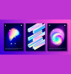 Set of creative design posters vector