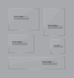 set of glass panels vector image