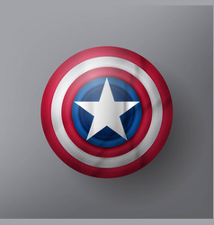 Shield with a star vector