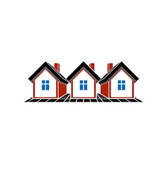 Simple cottages country houses for use in vector image