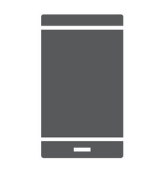 smartphone glyph icon electronic and device vector image
