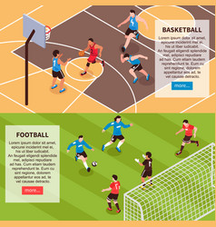sport field games isometric banners vector image