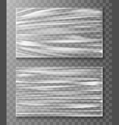 stretched cellophane banner crumpl folded texture vector image