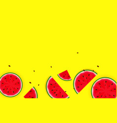 summer background from watermelon vector image
