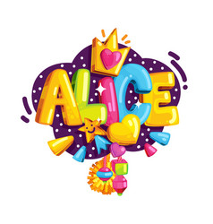 the emblem of alice vector image