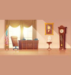 Us president office interior cartoon vector