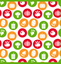 vegetables seamless pattern linear graphic vector image