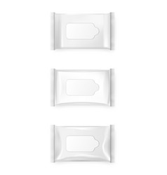 Wet wipes package vector image