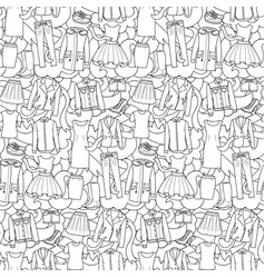 woman clothes seamless pattern vector image