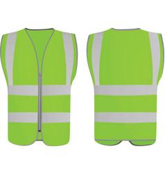 green safety vest vector image