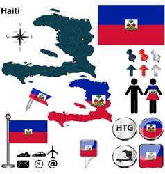 Haiti map vector image