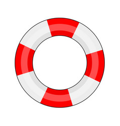 lifebuoy on a white background vector image