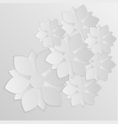 paper flower origami vector image
