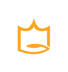 abstract crown logo on white vector image