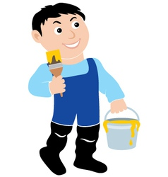 house painter vector image vector image