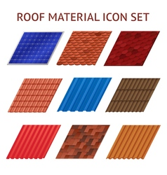House Roof Tile Images Set vector image
