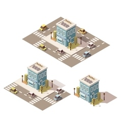 isometric low poly drugstore icon vector image vector image