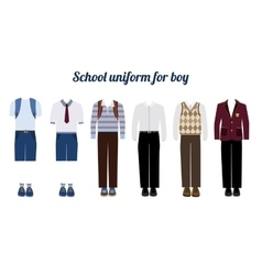 School uniform for boys flat vector image vector image