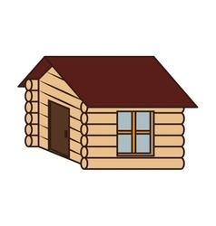 Wooden house camp icon design vector image