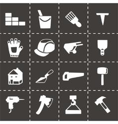 Construction icon set vector image
