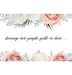 floral wedding invitation invite vector image
