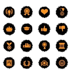 Trophy and prize icon set vector image