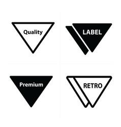 Price tags label set triangle design vector