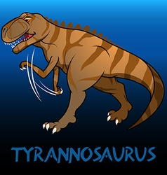 Tyrannosaurus cute character dinosaurs vector image vector image