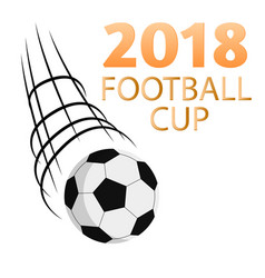2018 football cup flying socer ball white backgrou vector