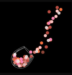 A glass red glowing wine 1 vector