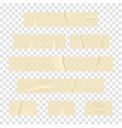 Adhesive tape set of realistic sticky tape vector