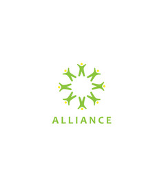 alliance poeple logo - design vector image