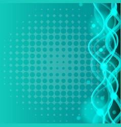 Background template with curve lines in blue vector
