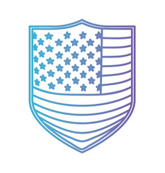 badge with flag united states of america in color vector image