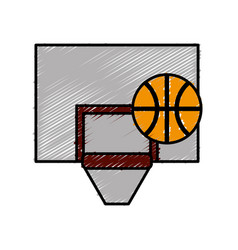 Basketball board icon vector