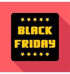 Black friday emblem icon flat style vector image