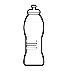 black silhouette sports bottle for liquids vector image