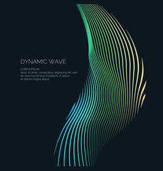 Bright abstract background with a dynamic waves of vector