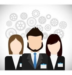 Businesspeople with gears icon Business design vector