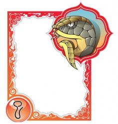 chinese horoscope frame series snake vector image