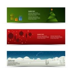 Christmas horizontal banner template vector
