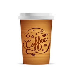 coffee cup template vector image