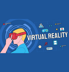 Colorful of modern virtual reality vector