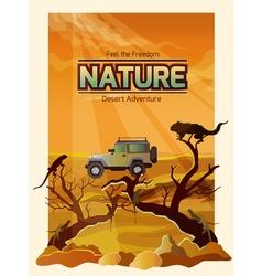 Desert Landscape Backround vector image