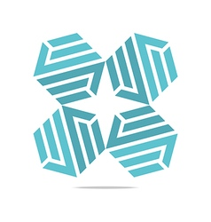 design icon letter s hexagon zigzag symbol vector image
