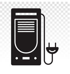 Desktop pc or personal computer with power plug vector
