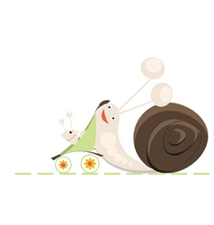 Family of snails vector image