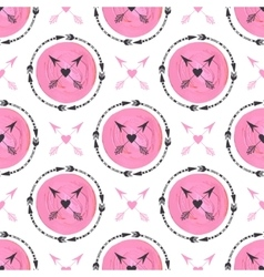 Fashion background with arrows and pink circles vector image