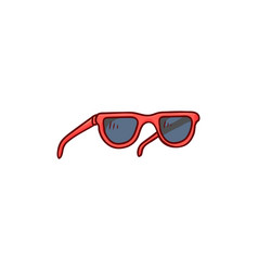 flat beach vintage fashionable sunglasses vector image