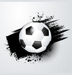 footballsoccer ball with splash in background vector image